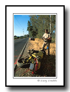 CHP officer at Motorcycle accident