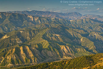 Santa Ynez Mountains, near Santa Barbara, California