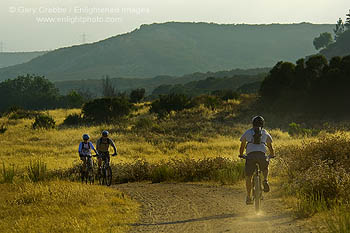 Picture: Mountain bikers on trail through Los Penasquitos Open Space Preserve, San Diego, California