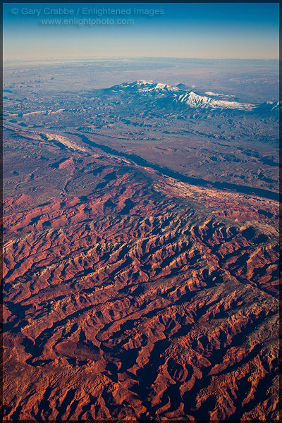 Picture: View from 36,000 feet over Utah