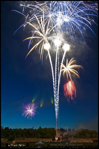 Photo: Fireworks on the 4th of July, Pleasant Hill, California