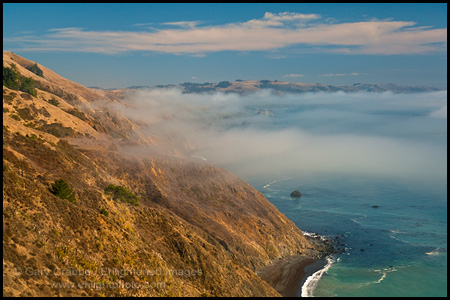 Photo: High above the Pacific Ocean along the steep and rugged cliffs of the Sonoma County coast, California