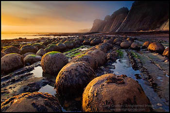 Photo: Sunset light at Bowling Ball Beach, near Point Arena, Mendocino County, California