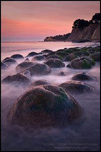 Photo: Dawn light at Bowling Ball Beach, near Point Arena, Mendocino County, California