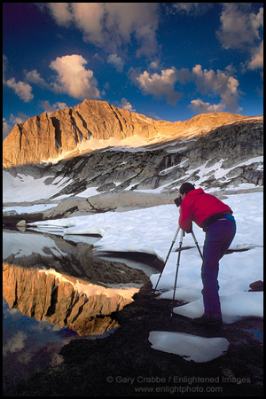 Picture: Photographer at work in the High Sierra, near Yosemite, California
