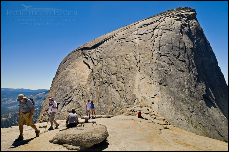 Image: The trail to Half Dome at the cables, Yosemite National Park, California