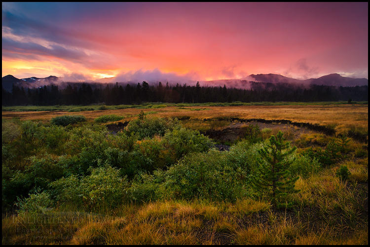 Image: Stormy sunset over Faith Valley, near Carson Pass, Sierra Nevada, California