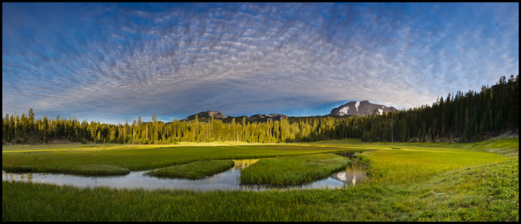Image: Clouds over Upper Kings Creek Meadow, Lassen Volcanic National Park, California