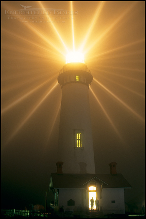 Image: Annual lighting of the original fresnel lens at Pigeon Point Lighthouse, San Mateo County coast, California