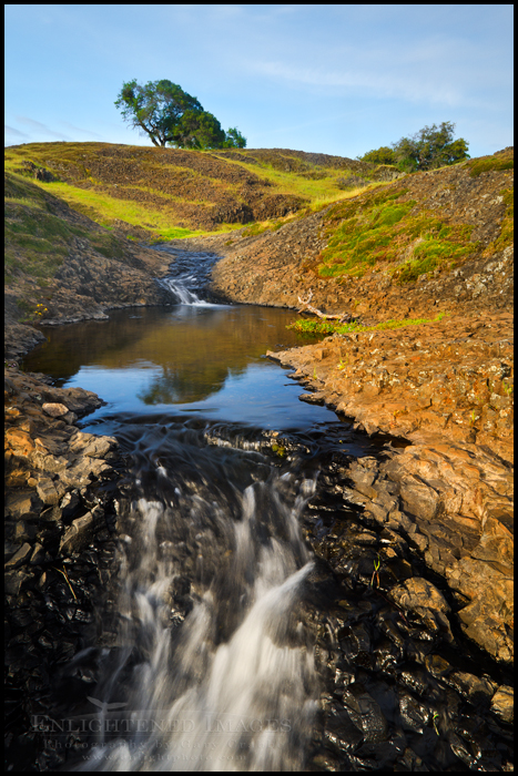 Image: Cascading stream in the North Table Mountain Preserve, near Oroville, California