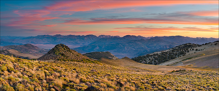 Image: Clouds at sunset over the Sierra Nevada, as seen from the Sweetwater Mountains, California