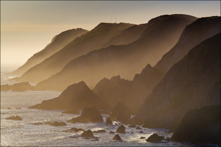 Image: Jagged coastal cliffs of the Point Reyes Headlands, Point Reyes National Seashore, Marin County, California