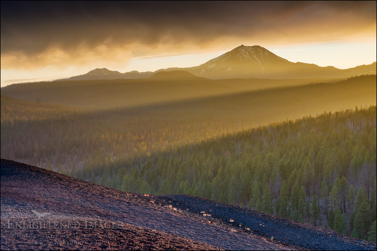 Image: Sunset over Lassen Peak, Lassen Volcanic National Park, California