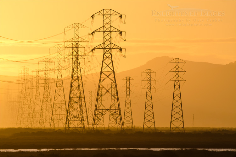 Image: High Capacity Electrical Transmission Towers passing through the San Pablo Bay National Wildlife Refuge, Sonoma County, California