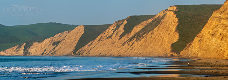 Image: Panorama at Drakes Beach, Point Reyes National Seashore, Marin County, California
