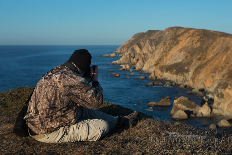 Image: Photographer shooting the Point Reyes Headlands, Point Reyes National Seashore, Marin County, California
