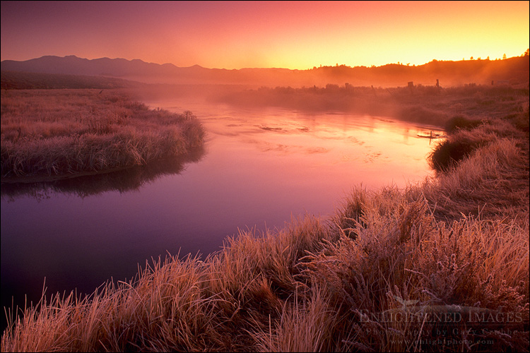 Image: Sunrise at Hot Creek, Eastern Sierra, California