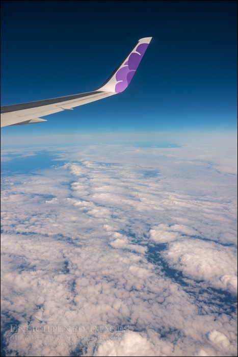Image: Aerial view of clouds over the Pacific Ocean enroute to Hawaii