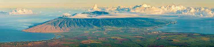 Image: Overlooking Central and West Maui from high on the slopes of Haleakala, Haleakala National Park, Maui, Hawaii