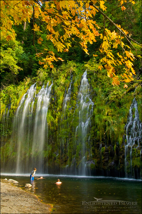 Image: Teenagers playing in the Sacramento River below Mossbrae Falls, near Dunsmuir, Siskiyou County, California