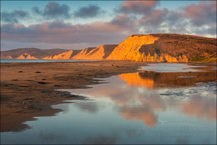 Image: Morning light at Drakes Beach, Point Reyes National Seashore, Marin County, California