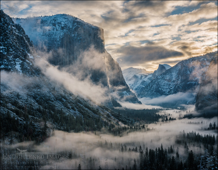 Image: Clearing snow storm over Yosemite Valley, Yosemite National Park, California