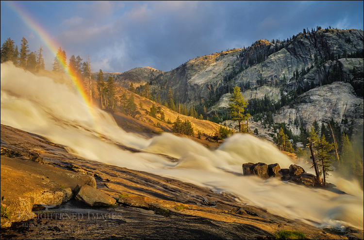 Image: Rainbow in LeConte Fall, along the Tuolumne River, Yosemite National Park, California