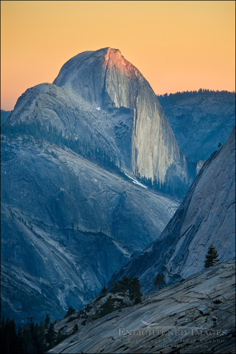 Image: Sunset light on Half Dome from Olmsted Point, Yosemite National Park, California