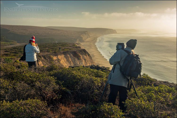 Image: Photographers at Drakes Beach, Point Reyes National Seashore, Marin County, California