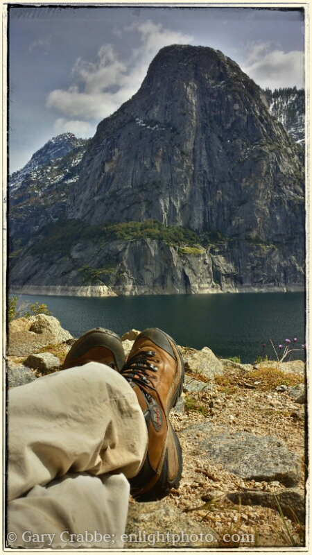 Image: Relaxing moment during a hike at Hetch Hetchy, Yosemite National Park, California