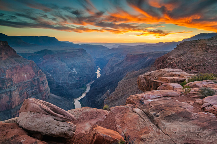 Image: Steep rugged cliffs above the Colorado River at sunset, Toroweap, Grand Canyon National Park, Arizona