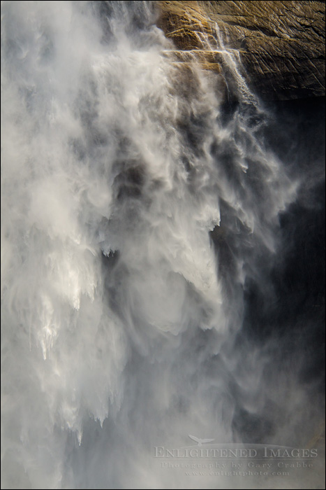 Image: Detail of Upper Yosemite Falls in spring, Yosemite Valley, Yosemite National Park, California