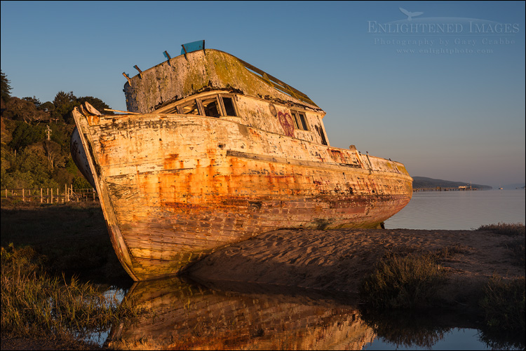 Image: The wreck of the Point Reyes boat, Inverness, Marin County, California