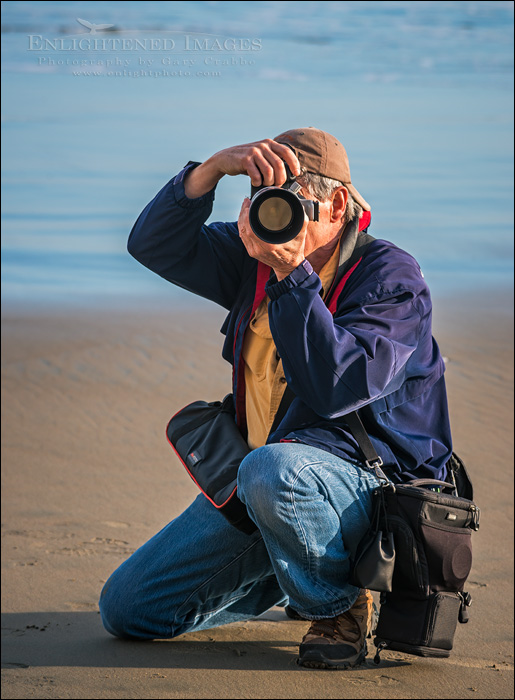 Image: Photographer at work on the beach at Point Reyes National Seashore, Marin County, California