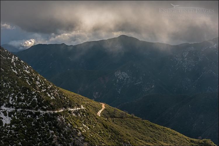 Image: Storm clouds over road in Los Padres National Forest, Monterey County, California