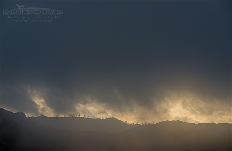 Image: Dark storm clouds over the Los Padres National Forest, Monterey County, California