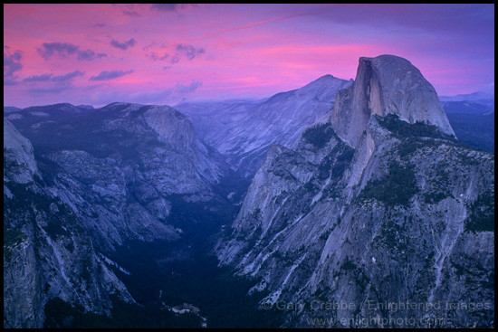 Evening light over Half Dome and Tenaya Canyon by Gary Crabbe