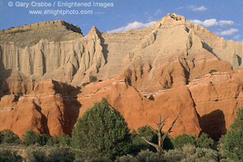 Eroded multi-colored sandstone cliffs at Kodachrome Basin State Park, Utah